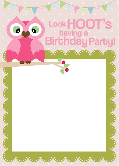 printable owl party invitations image gallery owl invitation template