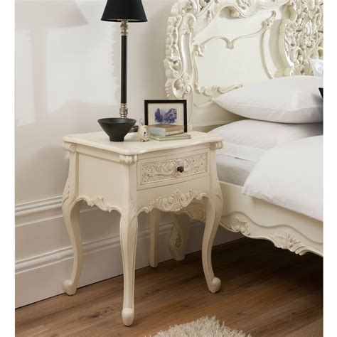 antique white 1 drawer bedside l table shabby french bordeaux 1 drawer ivory shabby chic bedside table shabby