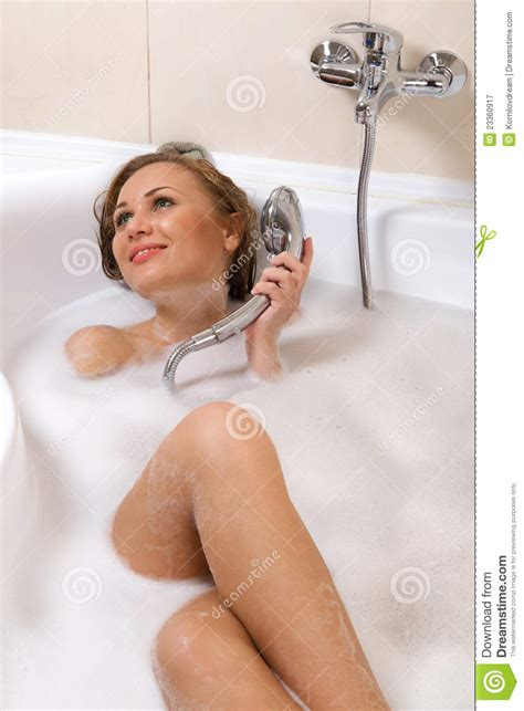 women in the bathtub woman relaxing in bathtub royalty free stock photography
