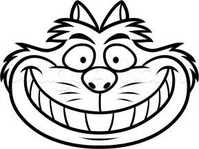 sketch cheshire cat smile coloring coloring pages