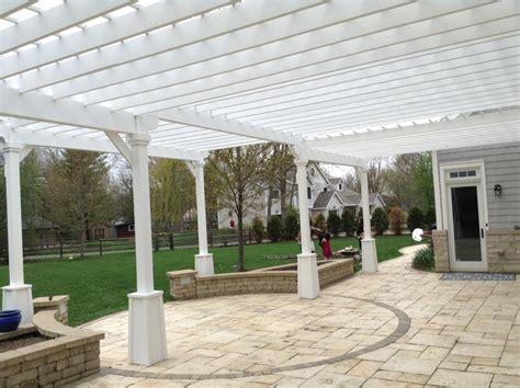 pergola installation in st charles patios decks design installation