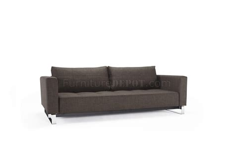 Cassius Sofa Bed Cassius Sofa Bed Brown Fabric By Innovation W Chromed Legs