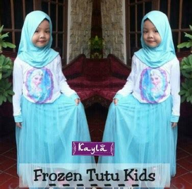 busana muslim anak frozen kumpulan baju muslim anak frozen terbaru citra muslima