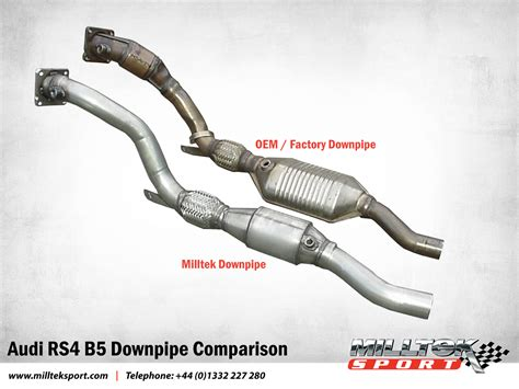 Audi Rs4 B5 Downpipe by Audi Rs4 V6 Bi Turbo B5 Downpipe Comparison