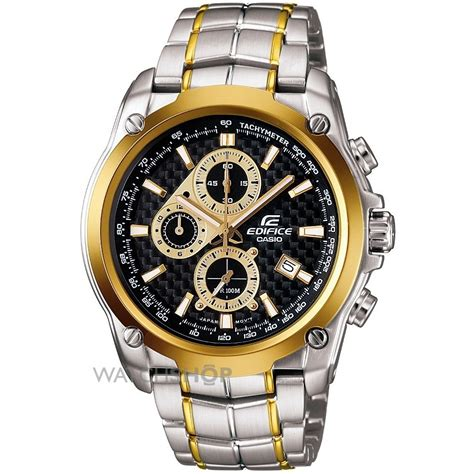 Casio Edifice Efr 524 Gold Chronograph All Stell S Casio Edifice Chronograph Ef 524sg 1avef
