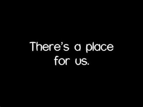 There Is A Place Lyrics There S A Place For Us Carrie Underwood Lyrics