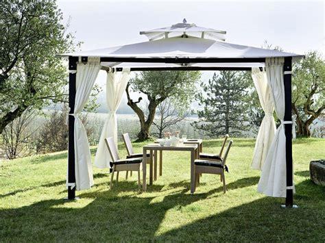 gazebi in metallo per esterni gazebo in ferro per giardino con tende predisposto per