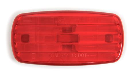 Bargman Red Clearance Side Marker Light With White Base Clearance White Lights
