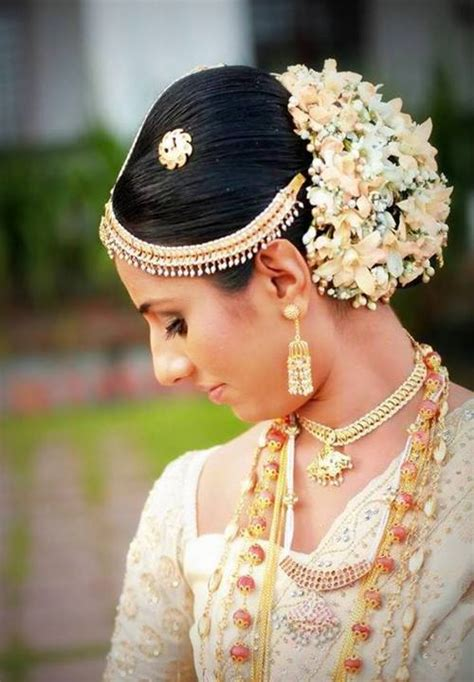 srilankan hairstyle beautiful kandyan bride dressed by sharmini ovitigama
