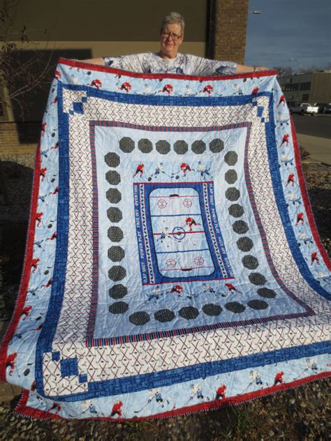 Hockey Quilt Patterns by Panel Quilt Pattern Hockey Soccer Stonehenge By