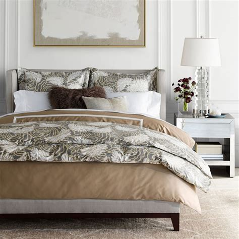 sonoma bedding printed chrysanthemum bedding gray williams sonoma
