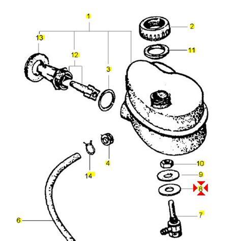 rubinetto serbatoio vespa rondella rubinetto serbatoio olio miscelatore per vespa