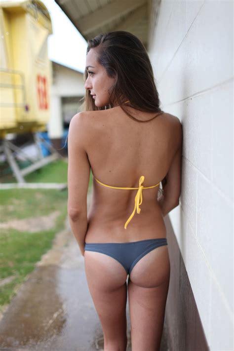 Thong Bikini Bottoms by Indie Attire Thong Bikini Bottom Slate Grey