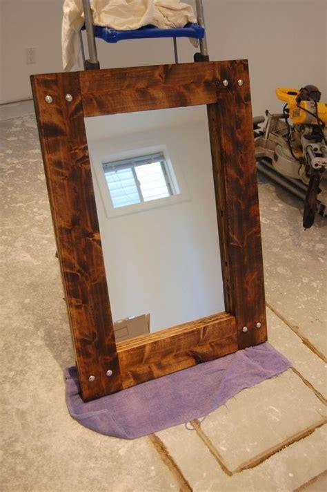 diy rustic mirror diy rustic mirror and a half bath update rustic