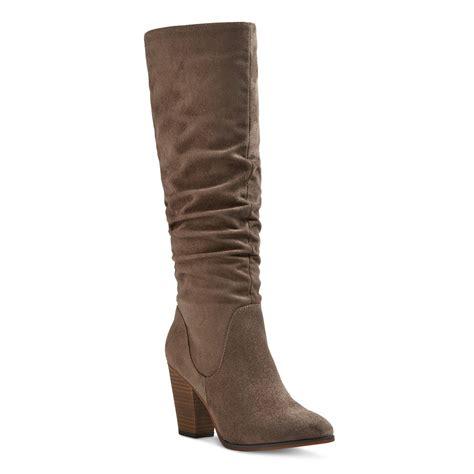 s dina suede scrunch boots merona ebay