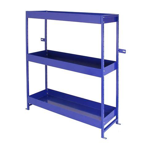 metal shelving unit with drawers van racking metal shelving system tool storage shelves