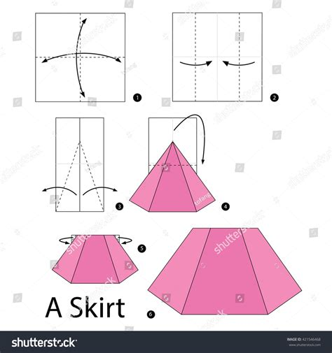 How To Make Paper Skirt - step by step how to make origami a skirt