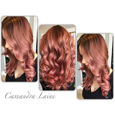 rose gold hair dye dark hair stunning rose gold hair ideas