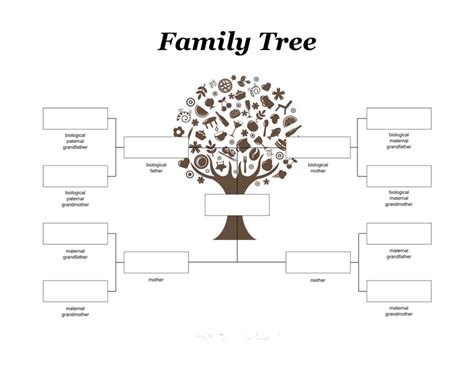 family pedigree chart template family tree for printable calendar templates