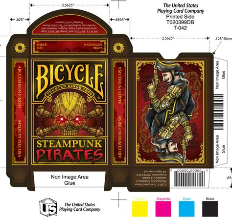 bicycle card tuck box template buy magic tricks bicycle steunk