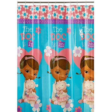 doc mcstuffin curtains disney doc mcstuffins shower curtain walmart com