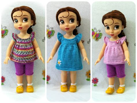 clothes pattern for dolls knitting pattern for top dress and shorts for disney