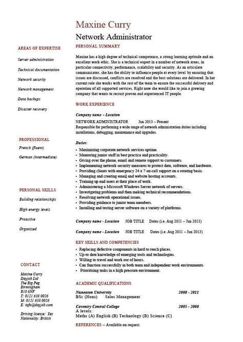Network administrator resume, IT, example, sample, Cisco