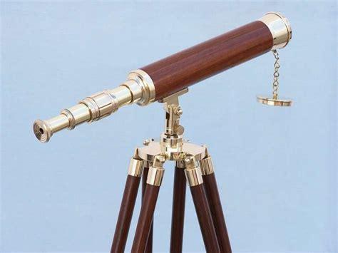 Telescope Floor L by Wholesale Floor Standing Brass Wood Harbor Master