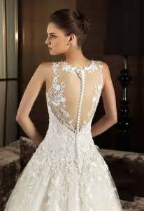 wedding dress lace open back vintage lace wedding dress with open back sang maestro