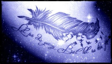 cute feather quote tattoo http tattoo ideas us