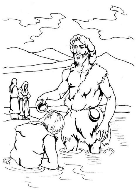 john the baptist baptism jesus coloring pages free coloring pages of john baptist