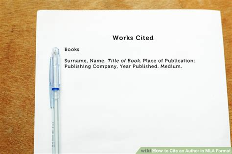 How To Reference Dvds In Essay by How To Cite An Author In Mla Format 5 Steps With Pictures