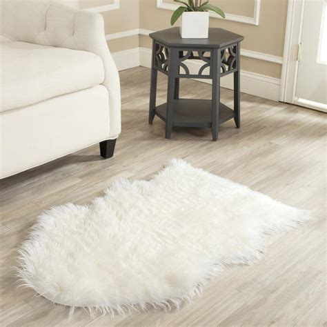Fur Area Rug Make A Modern Design With This White Rug Best Decor Things