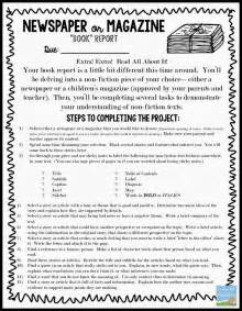 Newspaper Book Report Form by Newspaper Book Report Template