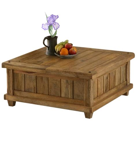 Wood Coffee Table With Storage Storage Coffee Table By Wood Dekor By Wood Dekor Contemporary Furniture Pepperfry
