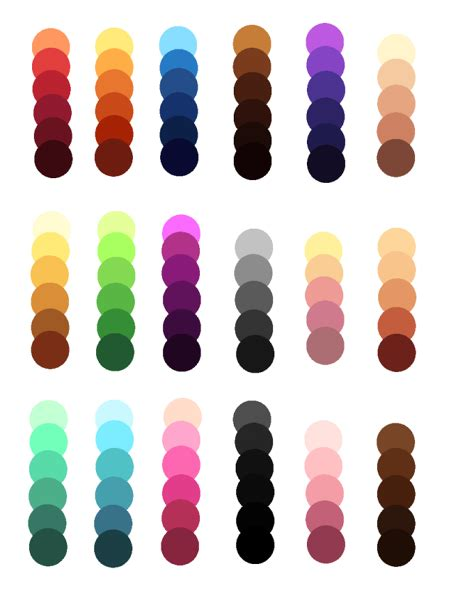 palettes by kuntser on deviantart