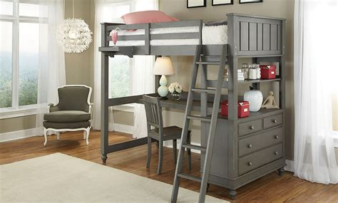 loft beds with desk lakehouse loft bed desk haynes furniture