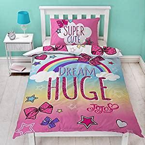 JoJo Siwa Single Duvet Set With Matching Pillow Case