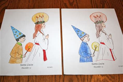 coloring pages santa lucia shower of roses ideas for celebrating st lucia day