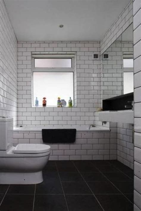 bathroom white subway tile black grout bathroom design ideas