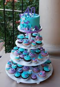 Diy cupcakes seems perfect decorated with bluefrosting and a purple