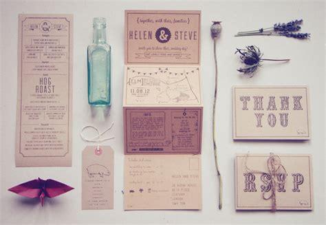 Wedding Stationery Paper by Helen Steve S Country Inspired Kraft Paper Wedding