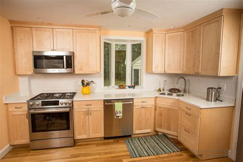 natural maple shaker cabinets kitchens from boston building resources boston building