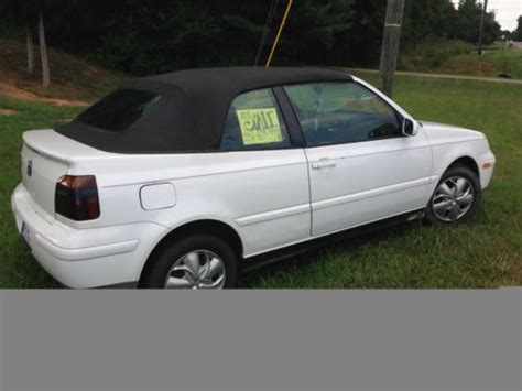 white girly cars find used 99 vw cabrio convertible runs white no reserve