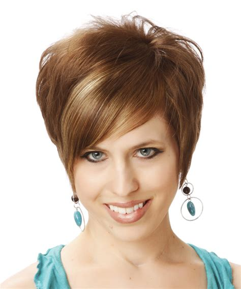 short haircuts with lift at the crown short straight formal hairstyle with side swept bangs