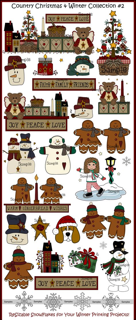 clipart collection and winter clip collection country