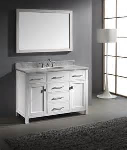 48 Inch White Bathroom Vanity by Caroline 48 Inch Single Sink Bathroom Vanity In White By
