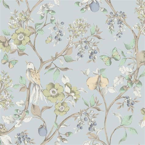 pinterest uk wallpaper holden d 233 cor damsen floral pattern bird countryside