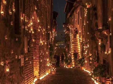candele roma la notte delle 100 mila candele vallerano in festa con le