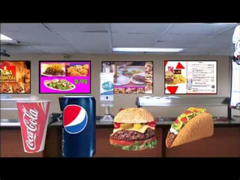 cuisine tv menut digital menu boards cafeteria restaurant catering